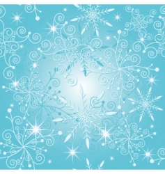 sparkle blue Christmas pattern vector image vector image