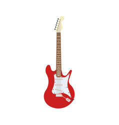 guitar electric red rock music instrument vector image vector image