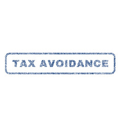 tax avoidance textile stamp vector image