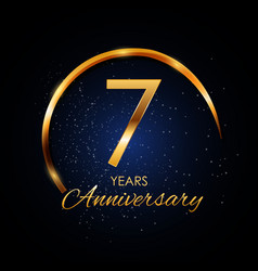 template logo 7 year anniversary vector image vector image