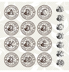 Vitamin stamps collection vector