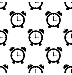 alarm clock seamless pattern on white background vector image