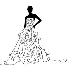 bridal shower12 vector image