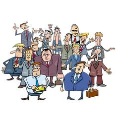 cartoon businessmen group vector image vector image
