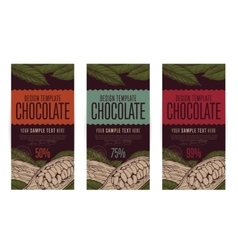 Chocolate packaging design template vector image