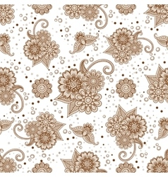Henna elements with dots seamless pattern vector image vector image
