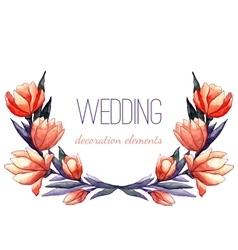 Watercolor tulips wreath for wedding decor vector image vector image
