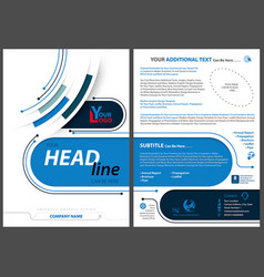 Abstract flyer template in tech style vector