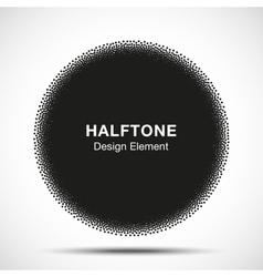 Abstract Halftone Dots Circle vector