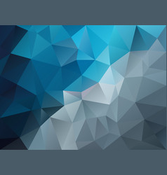 Abstract polygon background blue gray vector