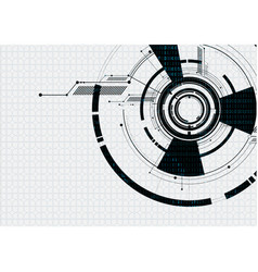 Abstract technological white futuristic interface vector