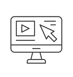 Arrow cursor and video clip on computer desktop vector