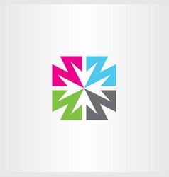 arrows logo negative space icon symbol design vector image