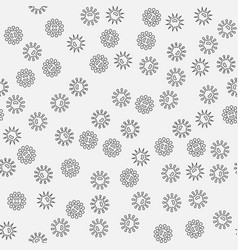 Bacteria minimal seamless pattern vector