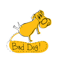 Bad doggy image vector