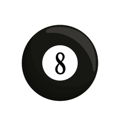 ball black billard eight icon vector image