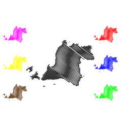 banten map vector image