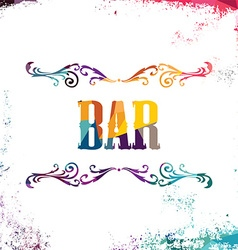 Bar sign abstract colorful triangle geometrical vector