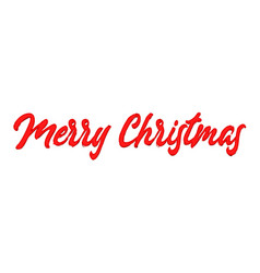 beautiful merry christmas lettering vector image