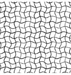 black curved grid seamless pattern vector image
