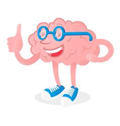 brain with good idea vector image