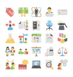 Business flat colored icons 7 vector