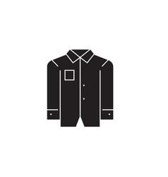 business men shirt black concept icon vector image