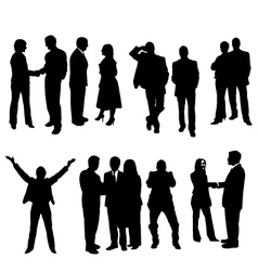 business silhouette vector image