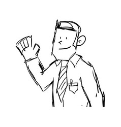 Businessman cartoon draw vector