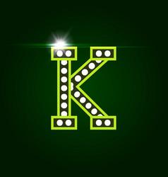 Casino and resort letter k luxury letter vector