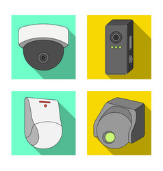Cctv and camera symbol set vector