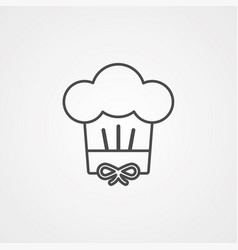 chef hat icon siign symbol vector image
