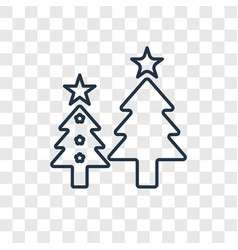 Christmas tree concept linear icon isolated on vector