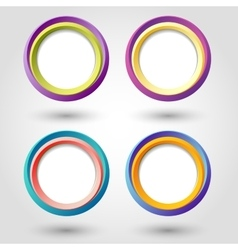 Circle icons vector image