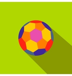 Colorful ball flat icon vector image