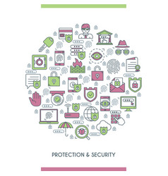 concept on theme security vector image