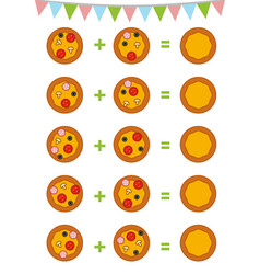 counting game for preschool children count vector image