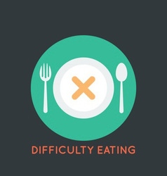 Difficulty Eating Poster vector