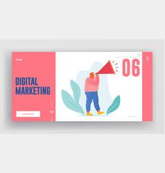 Digital marketing online public relations vector