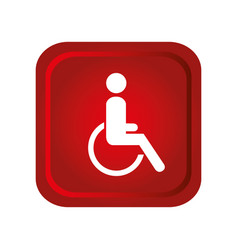 Disable person in wheelchair vector