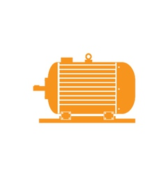 Electric motor on a white fone vector
