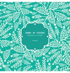 Emerald green plants frame seamless pattern vector