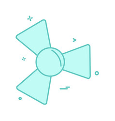 fan icon design vector image