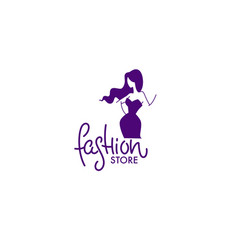 Fashion boutique and store logo label emblem vector