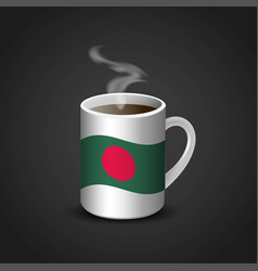 flags cup design vector image