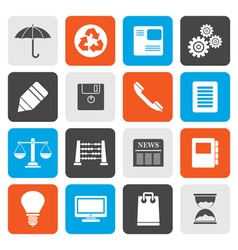 Flat Business and Office internet Icons vector