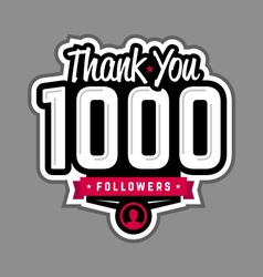 Follower thank-you badge vector image
