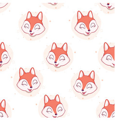 fox seamless pattern vector image