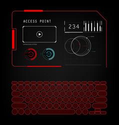 Future sight action mode interface ui future vector