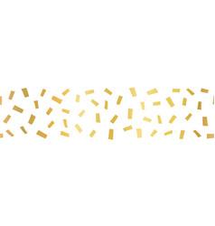 gold foil confetti seamless horizontal border vector image